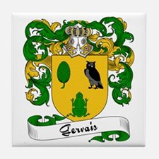 Gervais Family Crest Tile Coaster