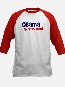Obama 4 President Kids Baseball Jersey