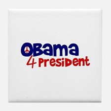 Obama 4 President Tile Coaster