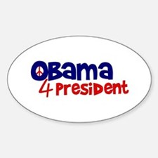 Obama 4 President Oval Decal