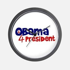 Obama 4 President Wall Clock