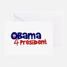 Obama 4 President Greeting Card