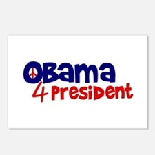 Obama 4 President Postcards (Package of 8)