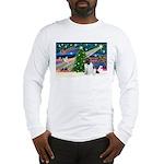 Xmas Magic & Newfie Long Sleeve T-Shirt