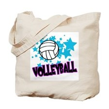 Volleyball Stars Tote Bag