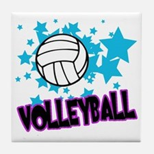 Volleyball Stars Tile Coaster