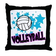 Volleyball Stars Throw Pillow