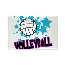 Volleyball Stars Rectangle Magnet