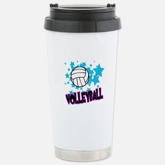 Volleyball Stars Stainless Steel Travel Mug