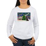 Xmas Magic/Newfie (#2) Women's Long Sleeve T-Shirt