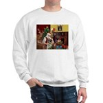 Santa/Norwegian Elkhound Sweatshirt