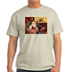 Santa/Nova Scotia Dog Light T-Shirt