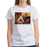 Santa/Nova Scotia Dog Women's T-Shirt