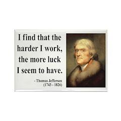 Thomas Jefferson 21 Rectangle Magnet