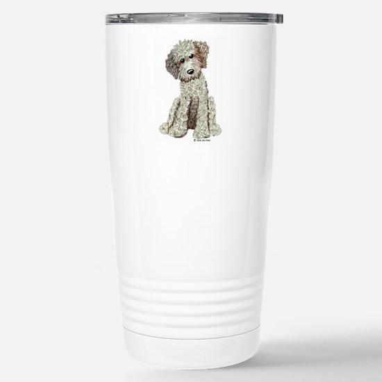 Blonde Doodle Stainless Steel Travel Mug
