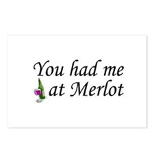 You Had Me At Merlot Postcards (Package of 8)