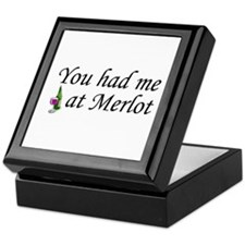 You Had Me At Merlot Keepsake Box