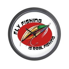 Fly Fishing Is Real Fishing Wall Clock