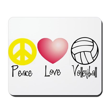 Peace, Love, Volleyball Mousepad