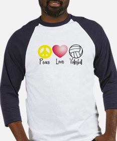 Peace, Love, Volleyball Baseball Jersey