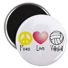 """Peace, Love, Volleyball 2.25"""" Magnet (10 pack)"""