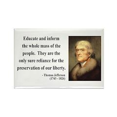 Thomas Jefferson 22 Rectangle Magnet (100 pack)