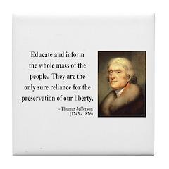 Thomas Jefferson 22 Tile Coaster