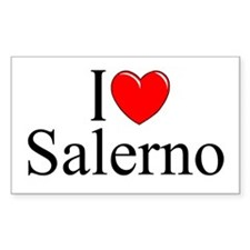 """""""I Love (Heart) Salerno"""" Rectangle Decal"""