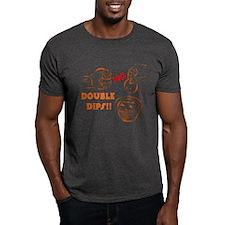NO DOUBLE DIPS - Dark Tee