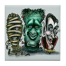 Funny Halloween frankenstein Tile Coaster