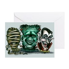 Cute Halloween frankenstein Greeting Card