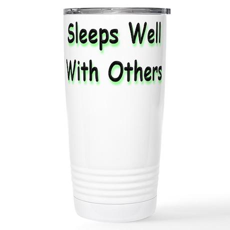 Sleeps Well Stainless Steel Travel Mug