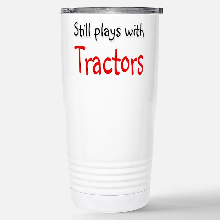 Still plays with Tractors Travel Mug