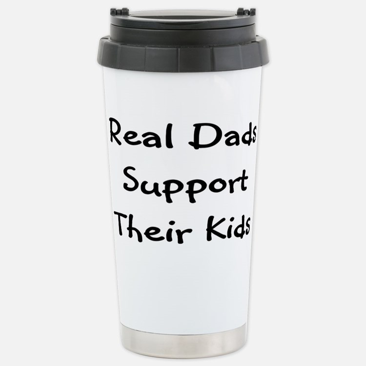 Real Dads Support Stainless Steel Travel Mug