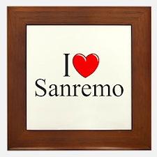 """I Love (Heart) Sanremo"" Framed Tile"