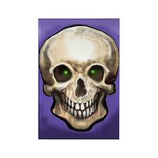 Unique Crystal skulls Rectangle Magnet