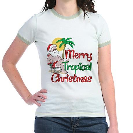MERRY TROPICAL CHRISTMAS! Jr. Ringer T-Shirt