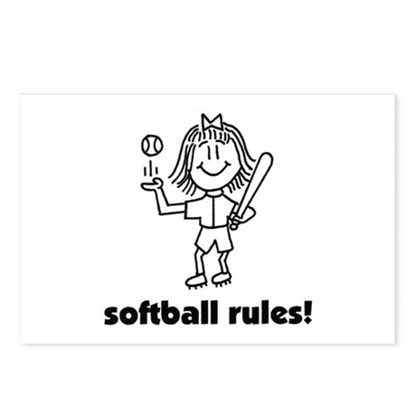softball rules susie Postcards (Package of 8)