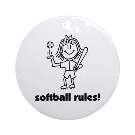 softball rules susie Ornament (Round)