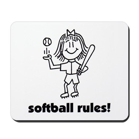 softball rules susie Mousepad