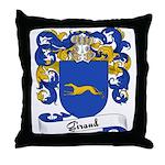 Giraud Family Crest Throw Pillow