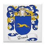 Giraud Family Crest Tile Coaster