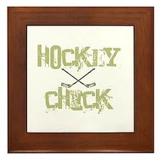 Hockey Chick Framed Tile