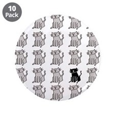 """One Special Black Kitty 3.5"""" Button (10 pack)"""