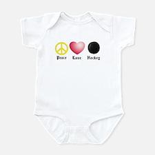 Peace, Love, Hockey Infant Bodysuit