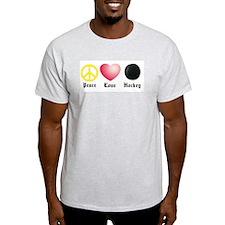 Peace, Love, Hockey T-Shirt