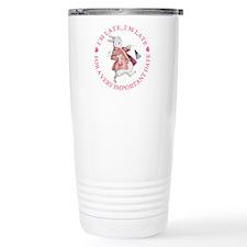 I'M LATE, I'M LATE Travel Coffee Mug
