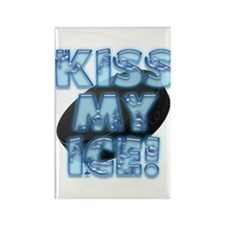 Kiss My Ice Rectangle Magnet