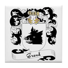 Grand Family Crest Tile Coaster