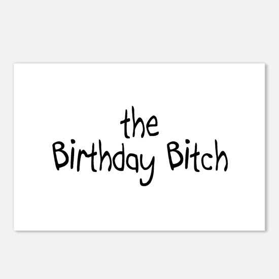 The Birthday Bitch Postcards (Package of 8)